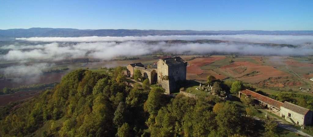 Survol du château de Montaigut